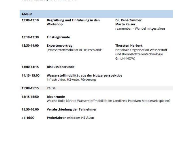 """Workshop """"Mobil mit Wasserstoff"""""""
