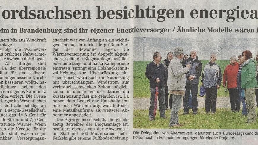 Grüne aus Nordsachsen besichtigen energieautarkes Dorf