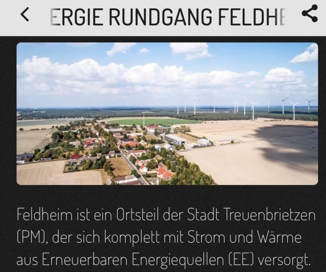 Elektronische Quiz-Tour durch Feldheim